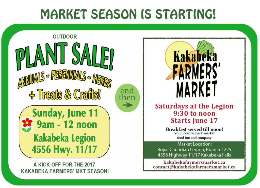 Kakabeka Farmers' Market Plant Sale 2017