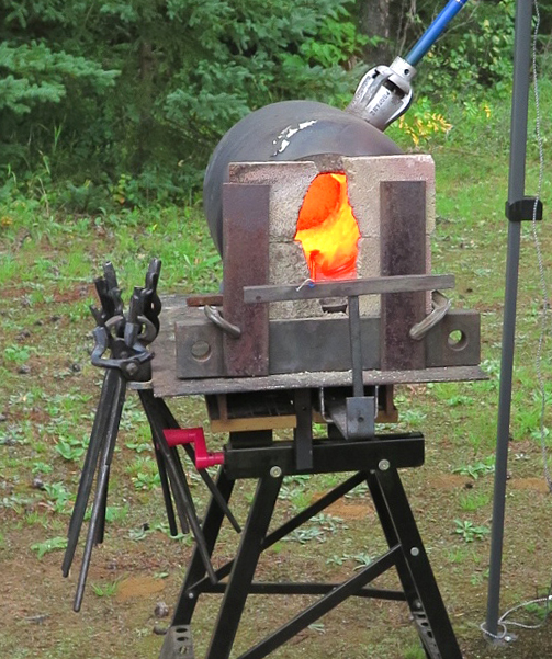 photo of portable forge